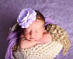 light purple flower headband prop bebe amour by leslie lane