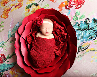 newborn wrap prop red bebe amour by leslie lane