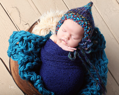 blue baby wrap prop bebe amour by leslie lane